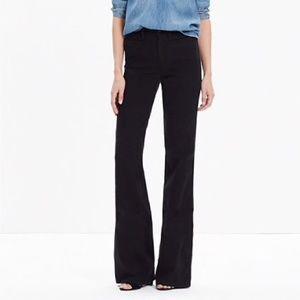 Madewell Womens 27 Jeans Flea Market Flare Black